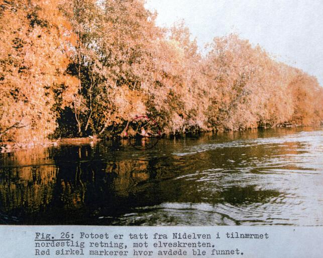 Funnstedet: Torunn Finstad ble funnet delvis ute i Nidelven.