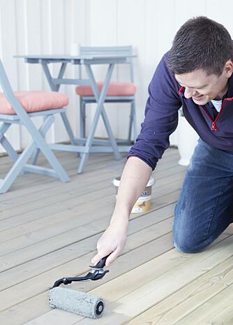 <strong>UTEPLASS:</strong> Beiser du terrassen med Butinox kan du vente i opptil tre år før du gjøre klar til nye strøk.