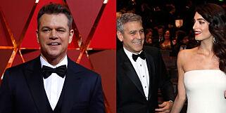 image: Matt Damon om Clooney i papparollen: - Kommer til å være et vrak