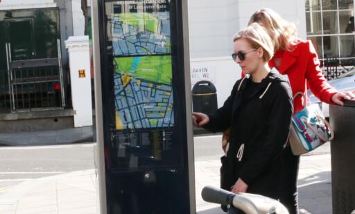 BETAL MED BANKKORT: Det var svært enkelt å gjennomføre betaling på automaten til bysykkelen. Foto: Hanna Sikkeland
