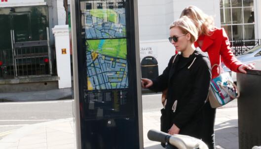 <strong>BETAL MED BANKKORT:</strong> Det var svært enkelt å gjennomføre betaling på automaten til bysykkelen. Foto: Hanna Sikkeland