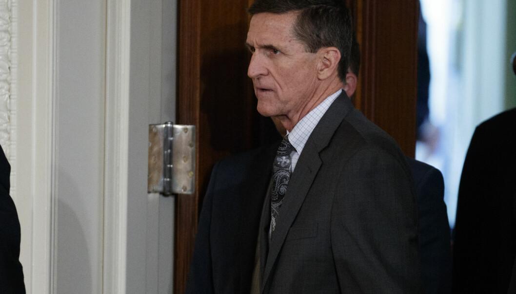 <strong>GRANSKNING:</strong> USAs tidligere nasjonale sikkerhetsrådgiver, Michael Flynn, trakk seg fra stillingen tidligere i år, etter å ha løyet om kontakt med russiske myndigheter. Foto: AP / NTB Scanpix
