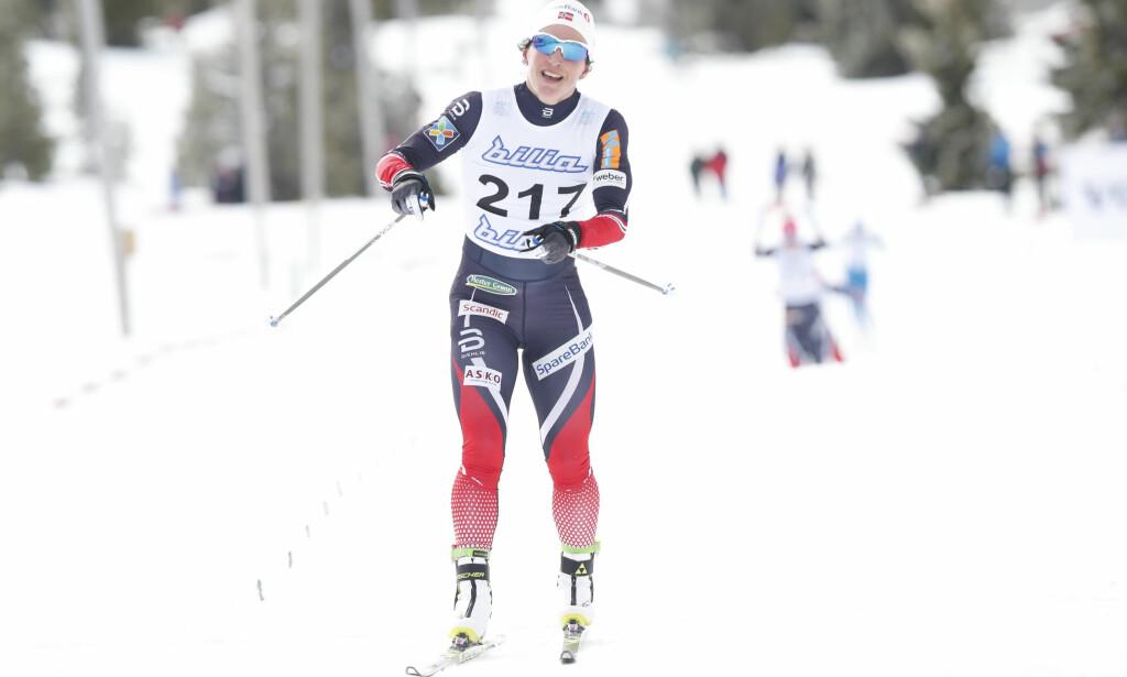 ER SLITEN: Men Marit Bjørgen vant likevel dagens femkilomtere i overlegen stil på Gålå. Foto: Terje Bendiksby / NTB Scanpix