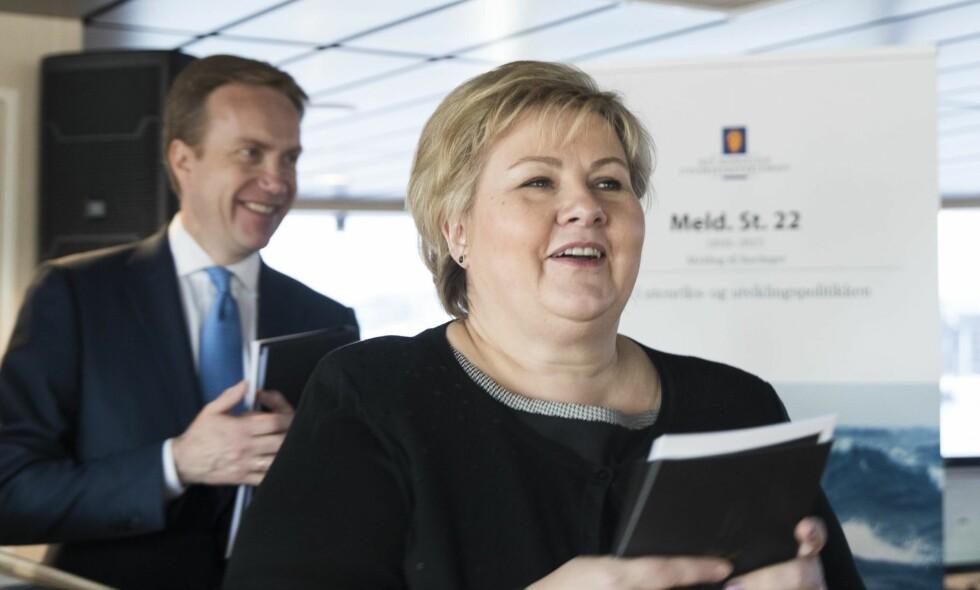 TIL KINA: Statsminister Erna Solberg og utenriksminister Børge Brende.