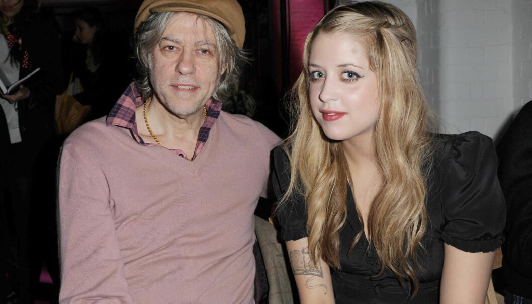 NÆRT FORHOLD: Sir Bob Geldof og Peaches Geldof stod nær hverandre, og han visste om dattrens rusproblemer, men klarte ikke redde henne. Bildet er tatt i 2009. Foto: NTB Scanpix