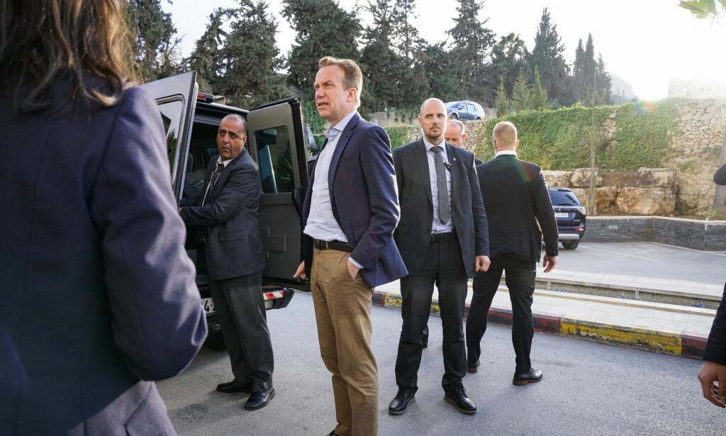 PÅ BESØK: Utenriksminister Børge Brende er på plass i Ramallah. Lørdag skal han treffes Palestinas president. Foto: Øistein Norum Monsen/Dagbladet.