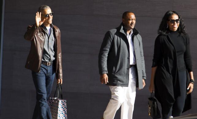 AVSLAPPET STIL: Da Obama-paret viste seg på gata i Washinton i mars, tok det fullstendig av. Foto: AP / NTB Scanpix