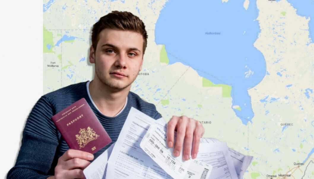 <strong>BOMTUR:</strong> Milan Schipper skulle til Sydney, og bestilte flybilletter til Sydney. Men han havnet i Canada. Foto: Privat / GoFundMe.com