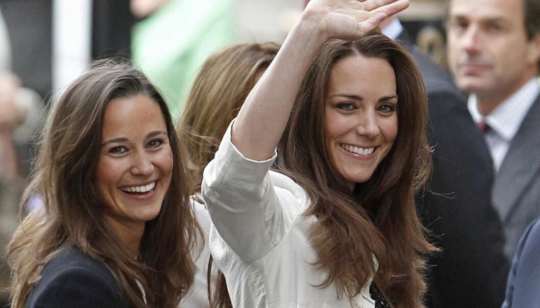 GIFTER SEG: Pippa Middleton hadde med seg storesøster, hertuginne Kate, til de franske alpene i helgen. Der feiret de utrdrikningslaget til førstnevnte, som er ventet å stå brud i løpet av 2017. Foto: NTB Scanpix