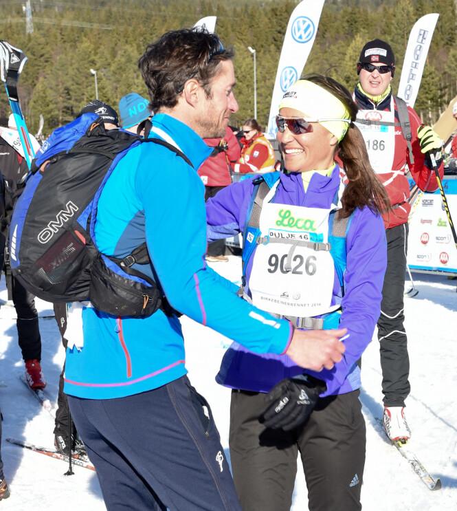 SPORTY PAR: I mars i fjor var både Pippa Middleton og kjæresten James Matthews deltaker i Birkebeinerrennet. Foto: Splash News