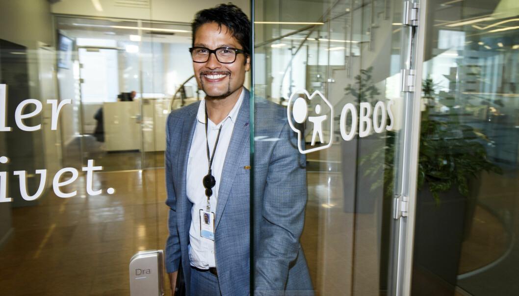 <strong>STØRST PÅ BOLIGER:</strong> Daniel Kjørberg Siraj har vært konsernsjef i OBOS siden 2015. Foto: Gorm Kallestad, NTB Scanpix.