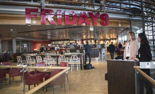 TGI Friday's ligger i etasjen over Bølgen & Moi.