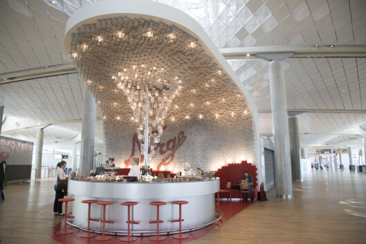 Norgesglasset bar ligger i annen etasje i Pir Nord - i innlandsavdelingen.