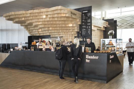 I Hunter's bar i Pir Nord får du mat med typiske norske råvarer, som soppsuppe, reinsdyrwrap, elgburger og stekt ishavsrøye.