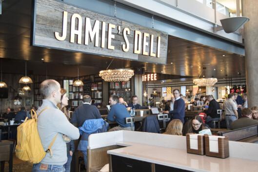 Jamie's deli åpnet i høst, og her får du klassisk deli-mat; brødmat, pizza, salater og et par varmretter.
