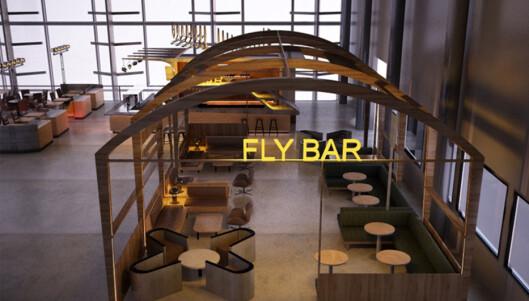 Nyeste tilskudd i den nye avgangshallen er Flybar, som åpnet få dager etter at fikk en omvisning. (Illustrasjon)