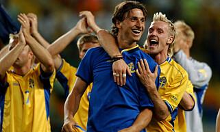 SUKSESS: Tidligere Stabæk-spiller Christian Wilhelmsson var et radarpar sammen med Zlatan Ibrahimovic både på og utenfor banen. Foto: NTB Scanpix
