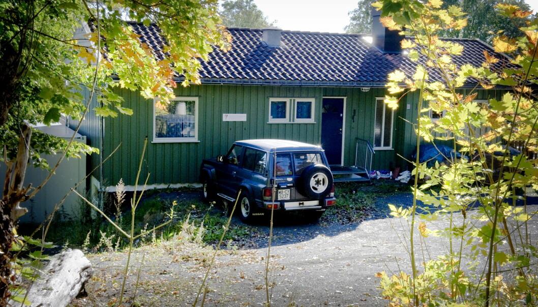 <strong>«UNIVERSITET»:</strong> Dette huset i utkanten av Sandefjord huser «Universitet Sandefjord for den Germanske Nye Medisin, Naturlig Kunst og Livsstil». Det har også vært Hamers hjem. Foto: Øistein Norum Monsen / Dagbladet