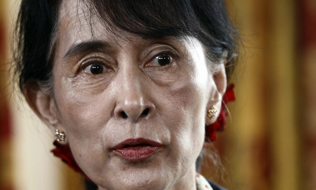 FÅR IKKE PRIS LIKEVEL: Nobels fredsprisvinner Aung San Suu Kyi på et besøk i Oslo. Arkivfoto: Lise Åserud / NTB scanpix
