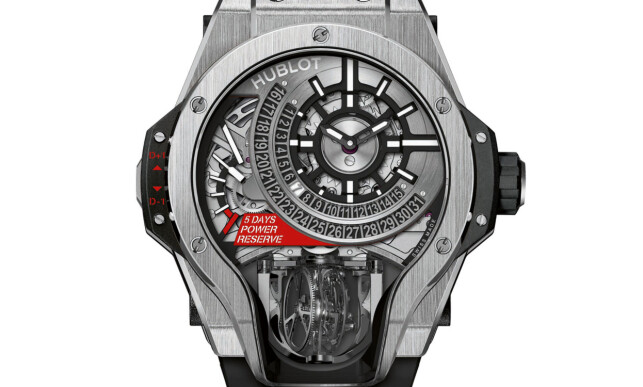 KOMPLISERT: Hublot MP-09 Bi-Axis Tourbillon. Foto: produsenten.