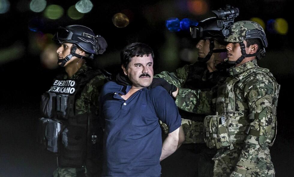 SKAL FOR RETTEN: Mandag starter rettssaken mot Joaquin «El Chapo» Guzman (61), kjent som lederen av det verdenskjente og brutale Sinaloa-kartellet. Foto: Foto: Daniel Cardenas / Anadolu Agency / NTB Scanpix