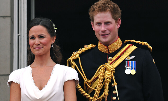 GOD KONTAKT: Prins Harry og Pippa var begge forlovere i bryllupet til prins William og hertuginne Kate i 2011. Foto: NTB Scanpix