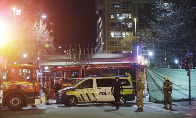 PÅGREPET: 17-åringen ble pågrepet seint søndag kveld med det som beskrives som en «primitivt, improvisert sprengladning». Foto: Frank Karlsen / Dagbladet