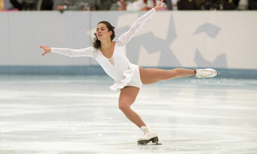 STOR: Nancy Kerrigan huskes av mange for sin innsats under OL i Lillehammer i 1994. Dramaet i forkant fikk også mye fokus, da hun ble overfalt før lekene. I et nytt intervju forteller stjerna at det ikke har vært enkelt på hjemmebane de siste 23 åra, og at planen om å stifte familie har vært vanskeligere å gjennomføre enn antatt. Foto: NTB Scanpix