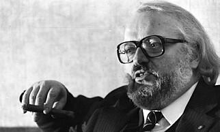 STORKAR: I perioden 1977 til 1984 var Johansen Dagbladets sjefredaktør, sammen med Arve Solstad. Det er bare én av hans mange toppjobber gjennom karrieren. Foto: Johan Brun / Dagbladet