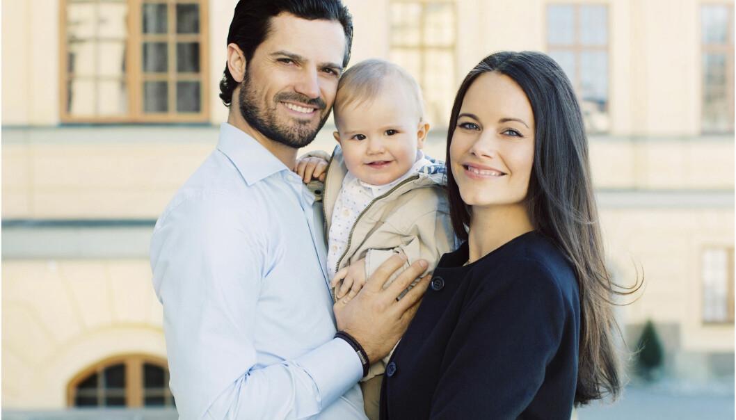 <strong>UTVIDES:</strong> I september utvides den lille familien på tre til en familie på fire. Foto: Kungahuset&nbsp;