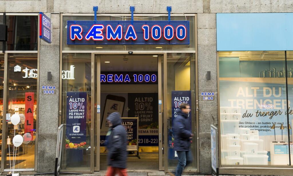 RÆMA: Rema 1000s kundeapp kom i januar 2017. Siden appen selv bare er ett år gammel har de heller ikke data per nå som går mer enn ett år tilbake i tid. Foto: Fredrik Varfjell / NTB scanpix
