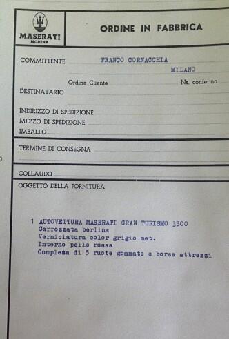 <strong>ORDINE IN FABRICCA:</strong> Maserati har orden i sysakene. Arkivet viser at Thomassens bil ble bestilt av Maserati-forhandler Franco Cornacchia i Milano. Foto: Privat