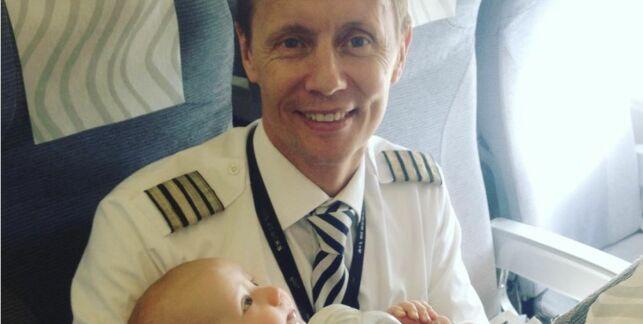 image: Pilot tok på seg ekstrajobb - reddet flyturen for firebarnsmor