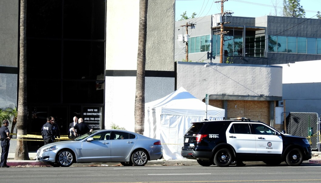 <strong>FUNNET DØD:</strong> Cuba Gooding Sr. skal ha blitt funnet i førersetet på den parkerte jaguaren sin på Ventura Boulevard. Foto: NTB Scanpix