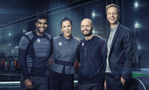 «LOST IN TIME»: TVNorge og programleder Fridtjof Nilsen (t.h.) mistet mange seere da det tekniske ikke fungerte som det skulle. Foto: TVNorge