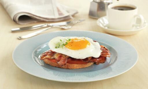 GOD START: Legg grunnlaget med egg og bacon. Foto: Matprat.no
