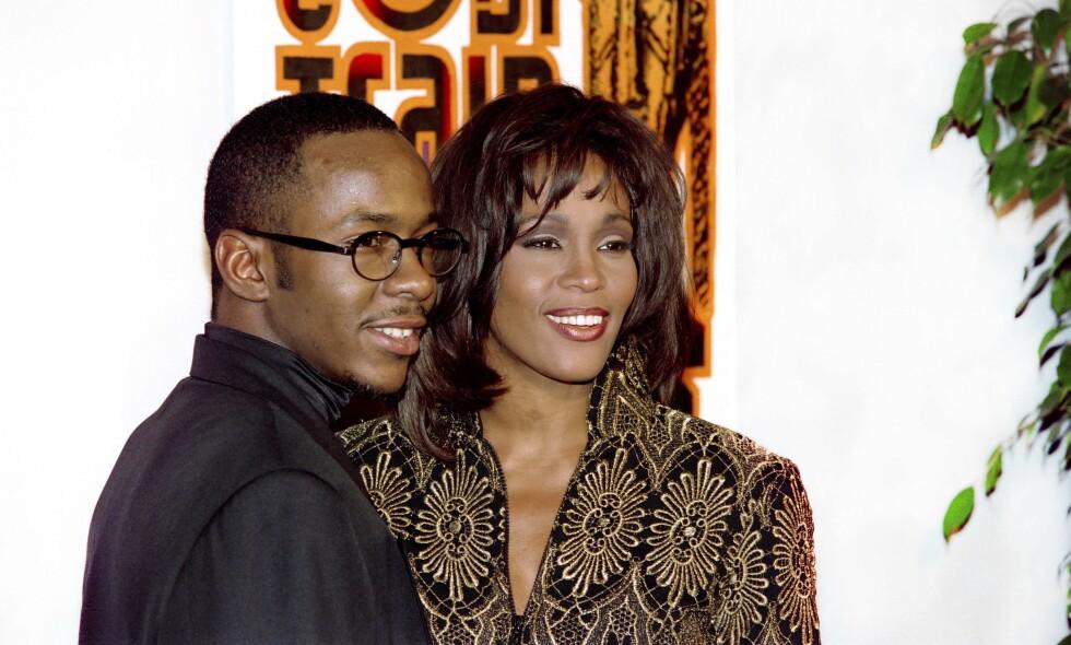 DRAMA: Ifølge dokumentaren var bestevenninna til Whitney store deler av grunnen til feidene mellom Whitney og ektemannen Bobby Brown. Foto: NTB scanpix