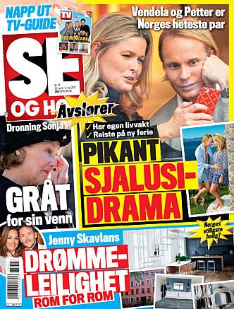 I SALG NÅ: I nyeste nummer av Se og Hør kan du lese mer om Vendela og Petter. Faksimile: Se og Hør.