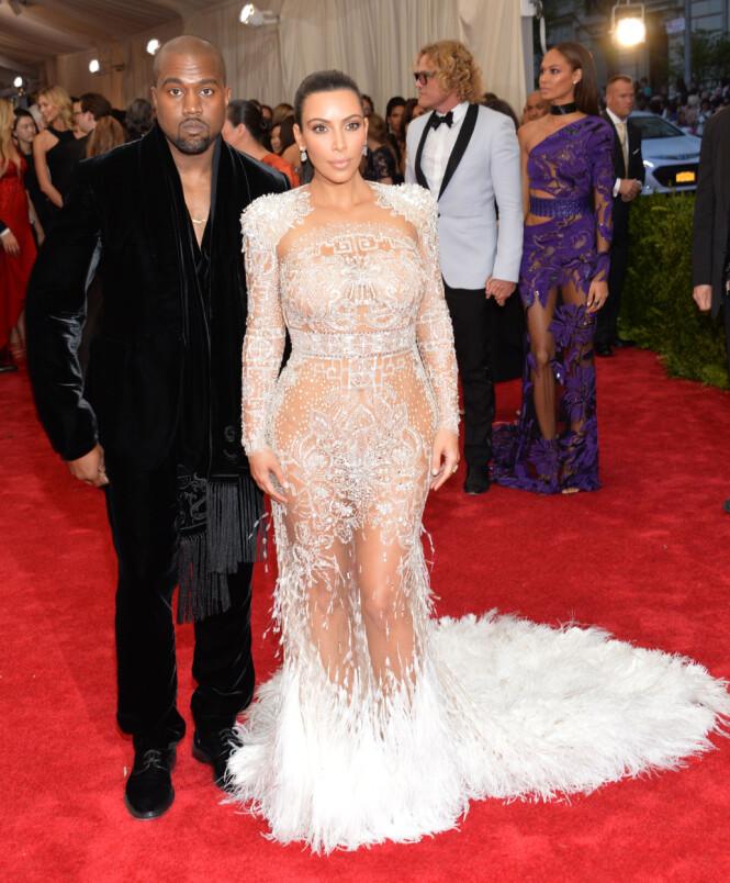<strong>I 2015:</strong> Kanye West og Kim Kardashian under Met-gallaen i forfjor. Foto: NTB Scanpix