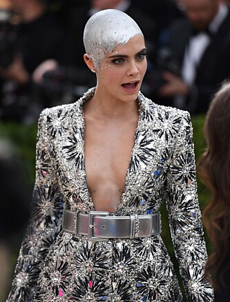 <strong>KREATIV:</strong> Supermodell Cara Delevingne (24). Foto: NTB Scanpix