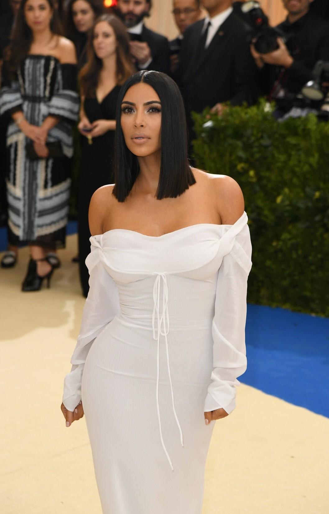<strong>KOM UTEN KANYE WEST:</strong> Kim Kardashian. Foto: NTB Scanpix