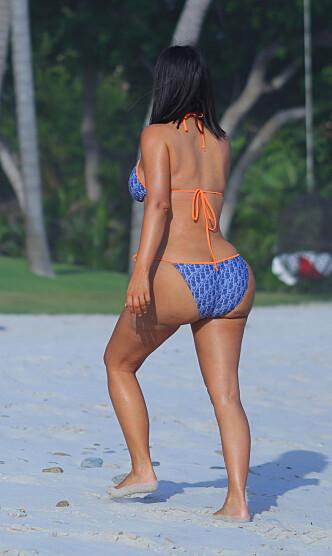 SKAPER DEBATT: Kim Kardashians berømte bakdel skaper igjen debatt. Foto: NTB scanpix