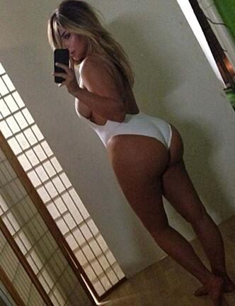 BERØMT BAKDEL: Kim Kardashian er kjent for å ha skapt begrepet «belfies» - å ta bilde av seg selv, med rumpa til kamera. Foto: Kim Kardashian / Twitte