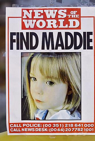 <strong>RØRTE EN HEL VERDEN:</strong> Madeleines forsvinning førte til at både medier og privatpersoner engasjerte seg i kampen for å finne henne. Foto: NTB Scanpix