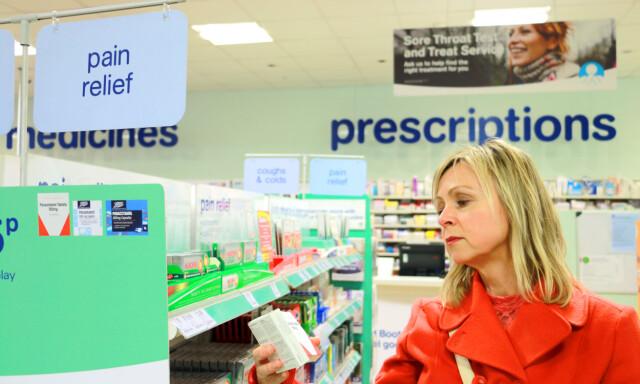4f91cd30 91 PROSENT BILLIGERE: Du kan spare inntil 91 prosent på smertestillende  tabletter i Storbritannia,