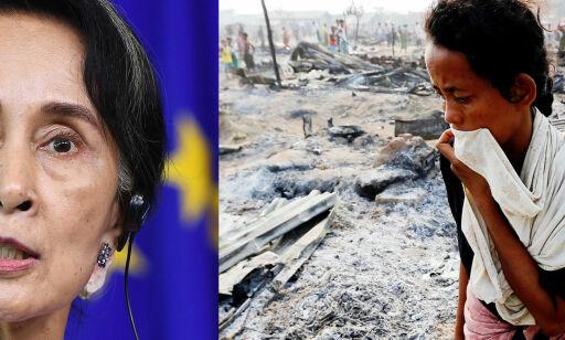 image: Fikk Fredsprisen i 1991. Nå nekter hun FN å undersøke grusomme overgrep