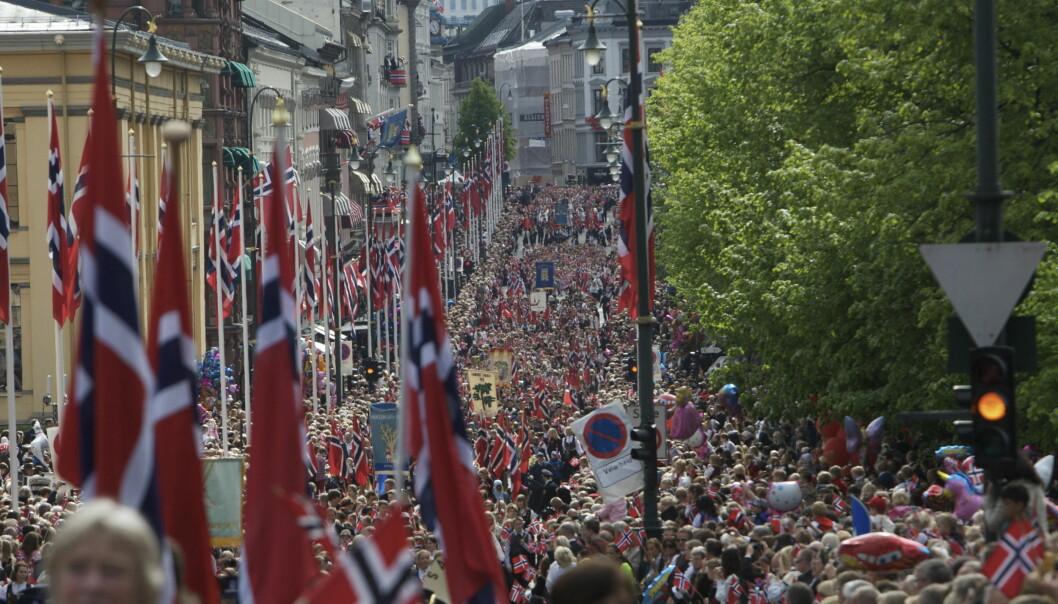 VERDENS STØRSTE BARNEFEST: Vanligvis deltar over 30 000 barn i Oslos barnetog. Foto: Oslo kommune/Scanpix NTB - Linn Cathrin Olsen