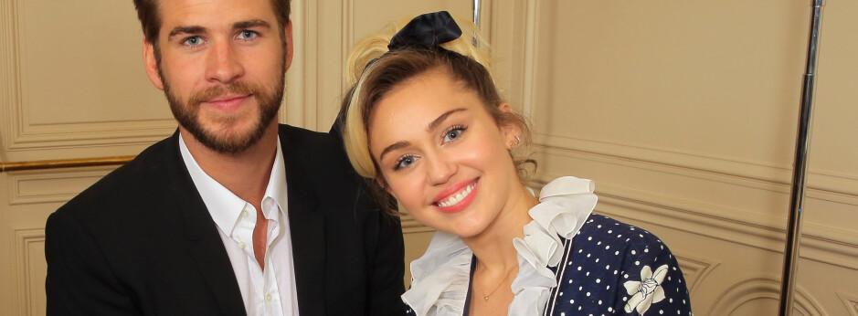 SAMMEN IGJEN: Liam Hemsworth og Miley Cyrus blåste liv i forholdet sitt i fjor. FOTO: Scanpix