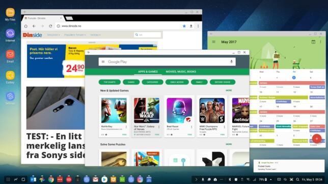 VINDUER: Med DeX kan du ha flere apper åpne samtidig og justere størrelsen på vinduene. Skjermdump: Pål Joakim Pollen