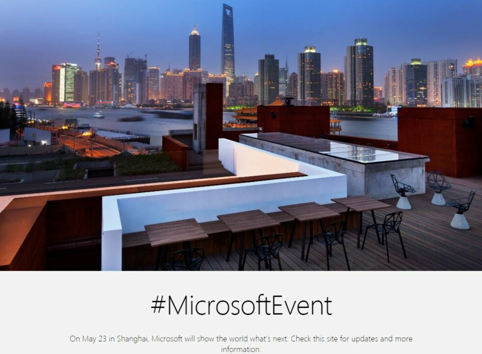 <strong>KRYPTISK:</strong> Slik ser invitasjonen fra Microsoft ut. Her overlates det meste til fantasien. Foto: Skjermdump